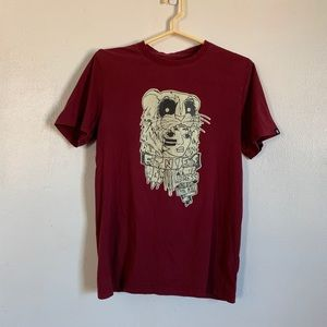 "Etnies Kyle""murder face"" Loza red graphic tee M"